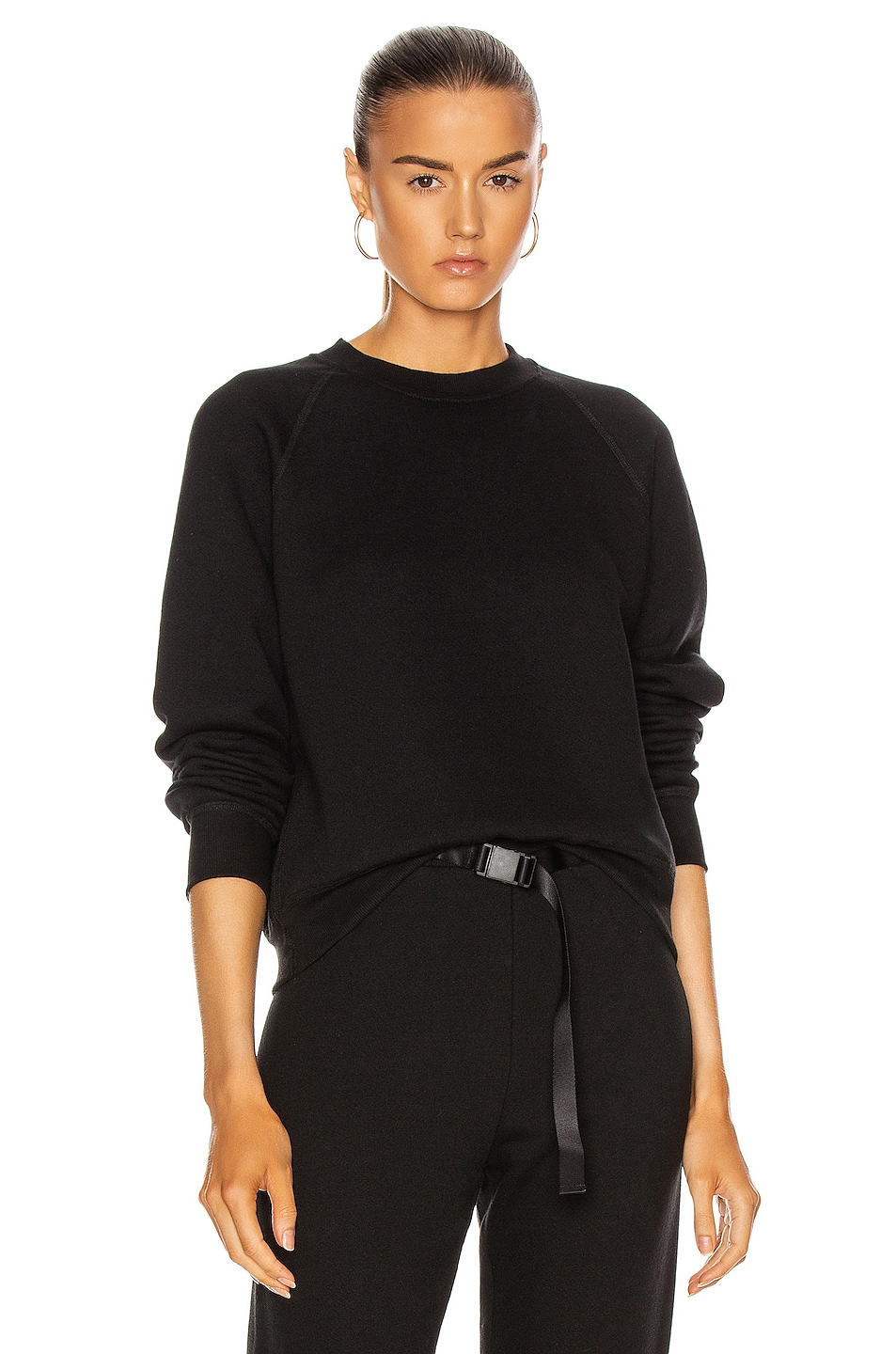 Image 1 of JOHN ELLIOTT Women's Vintage Fleece Crew Sweatshirt in Black