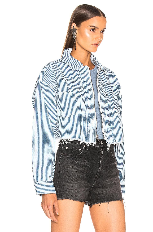 Image 3 of JOHN ELLIOTT Culver Jacket in Indigo Stripe