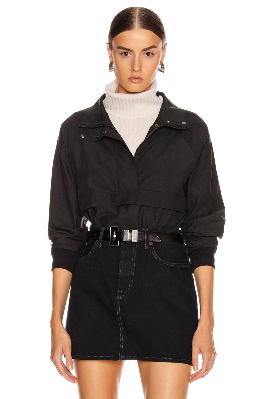 Image 1 of JOHN ELLIOTT Cotton Sail Zip Pullover in Black