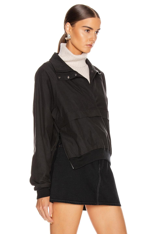 Image 3 of JOHN ELLIOTT Cotton Sail Zip Pullover in Black