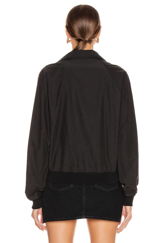 Image 4 of JOHN ELLIOTT Cotton Sail Zip Pullover in Black