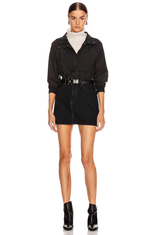 Image 5 of JOHN ELLIOTT Cotton Sail Zip Pullover in Black