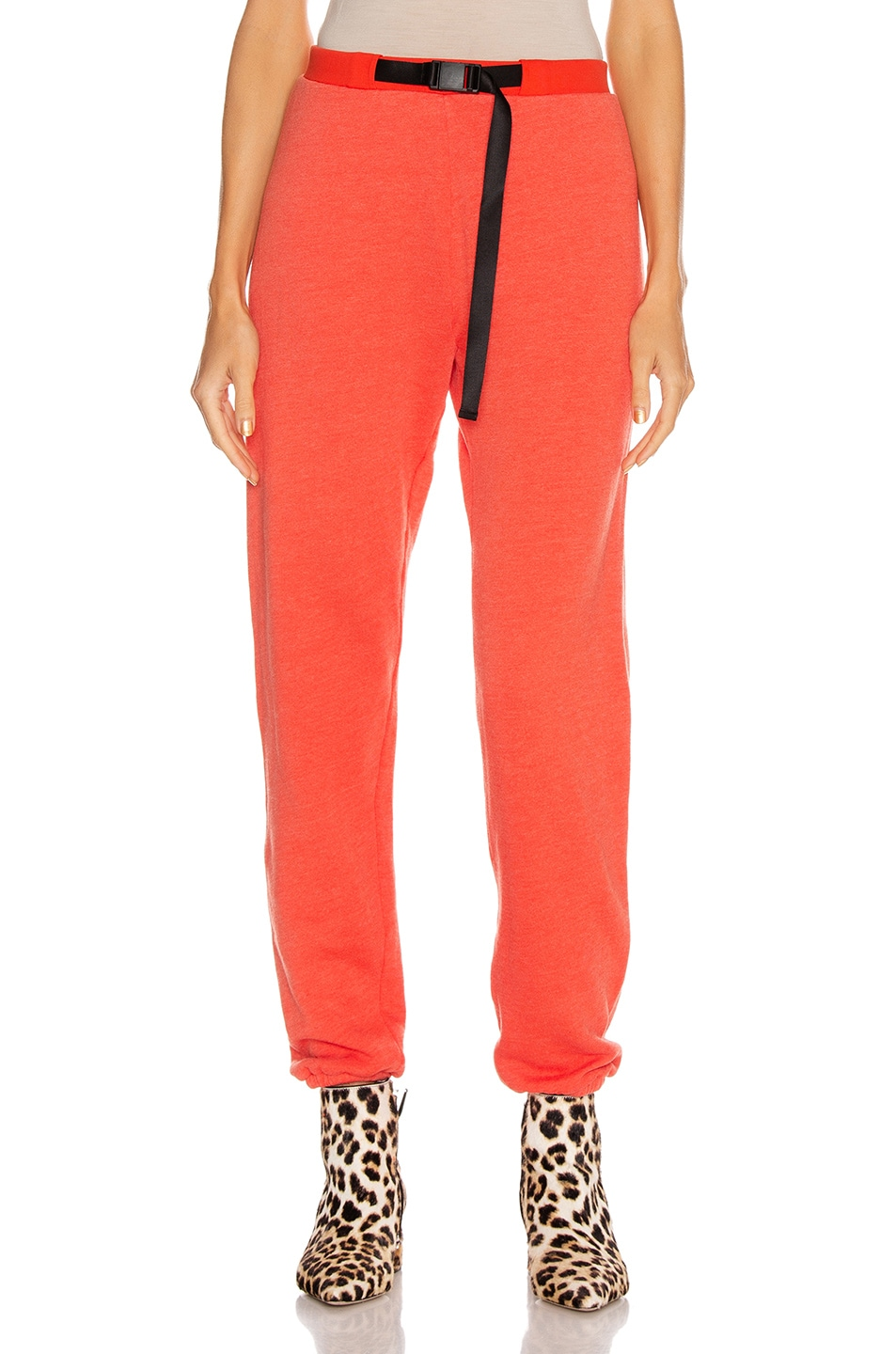 Image 1 of JOHN ELLIOTT Belted Vintage Fleece Sweatpants in Cardinal