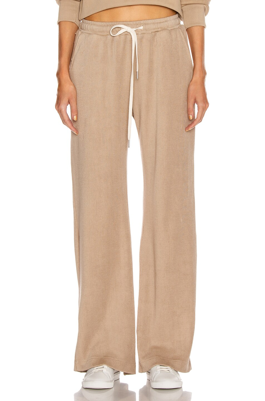Image 1 of JOHN ELLIOTT Corduroy Sweatpants in Linen