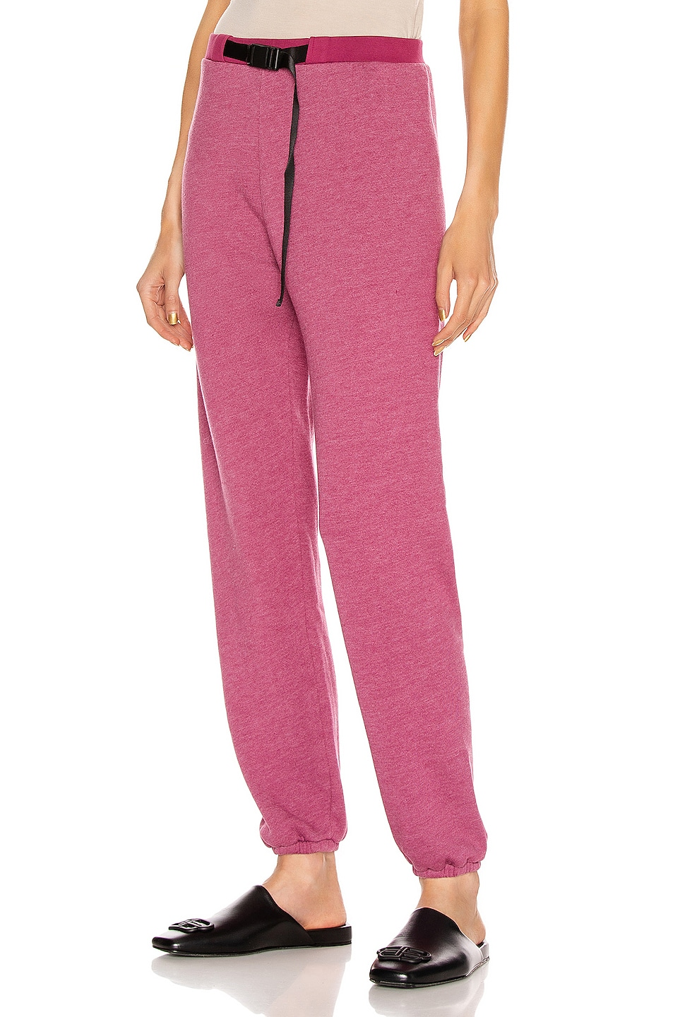 Image 1 of JOHN ELLIOTT Belted Vintage Fleece Sweatpants in Lambrusco