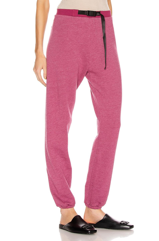 Image 2 of JOHN ELLIOTT Belted Vintage Fleece Sweatpants in Lambrusco