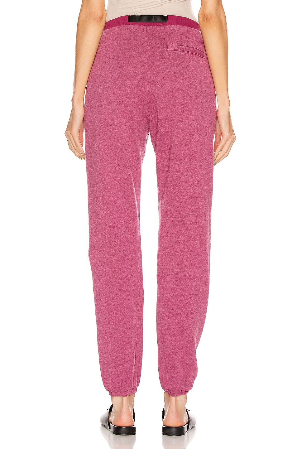 Image 3 of JOHN ELLIOTT Belted Vintage Fleece Sweatpants in Lambrusco