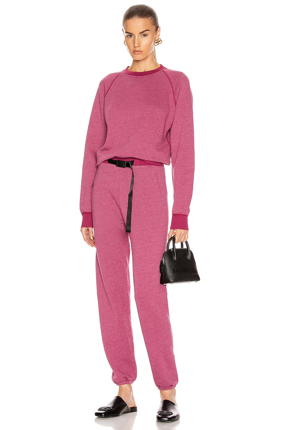 Image 4 of JOHN ELLIOTT Belted Vintage Fleece Sweatpants in Lambrusco