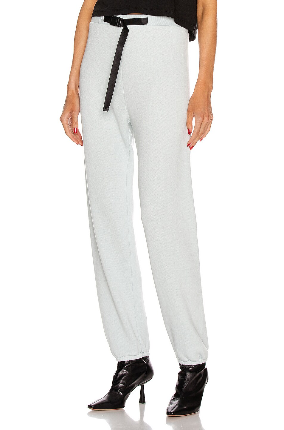 Image 1 of JOHN ELLIOTT Vintage Fleece Belted Sweatpant in Sky