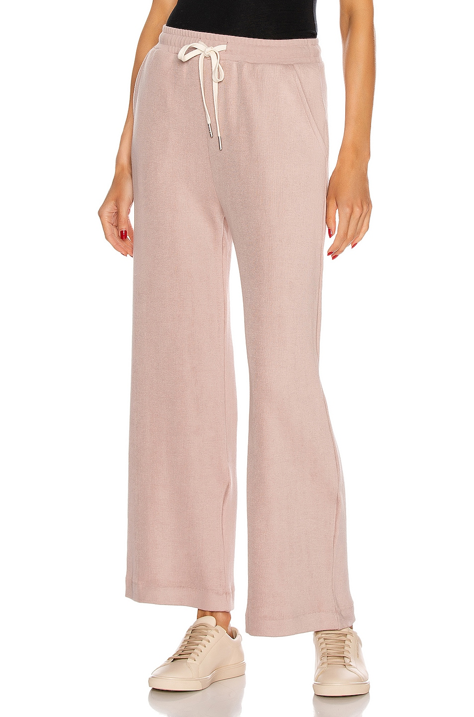 Image 1 of JOHN ELLIOTT Corduroy Cropped Sweatpant in Soapstone