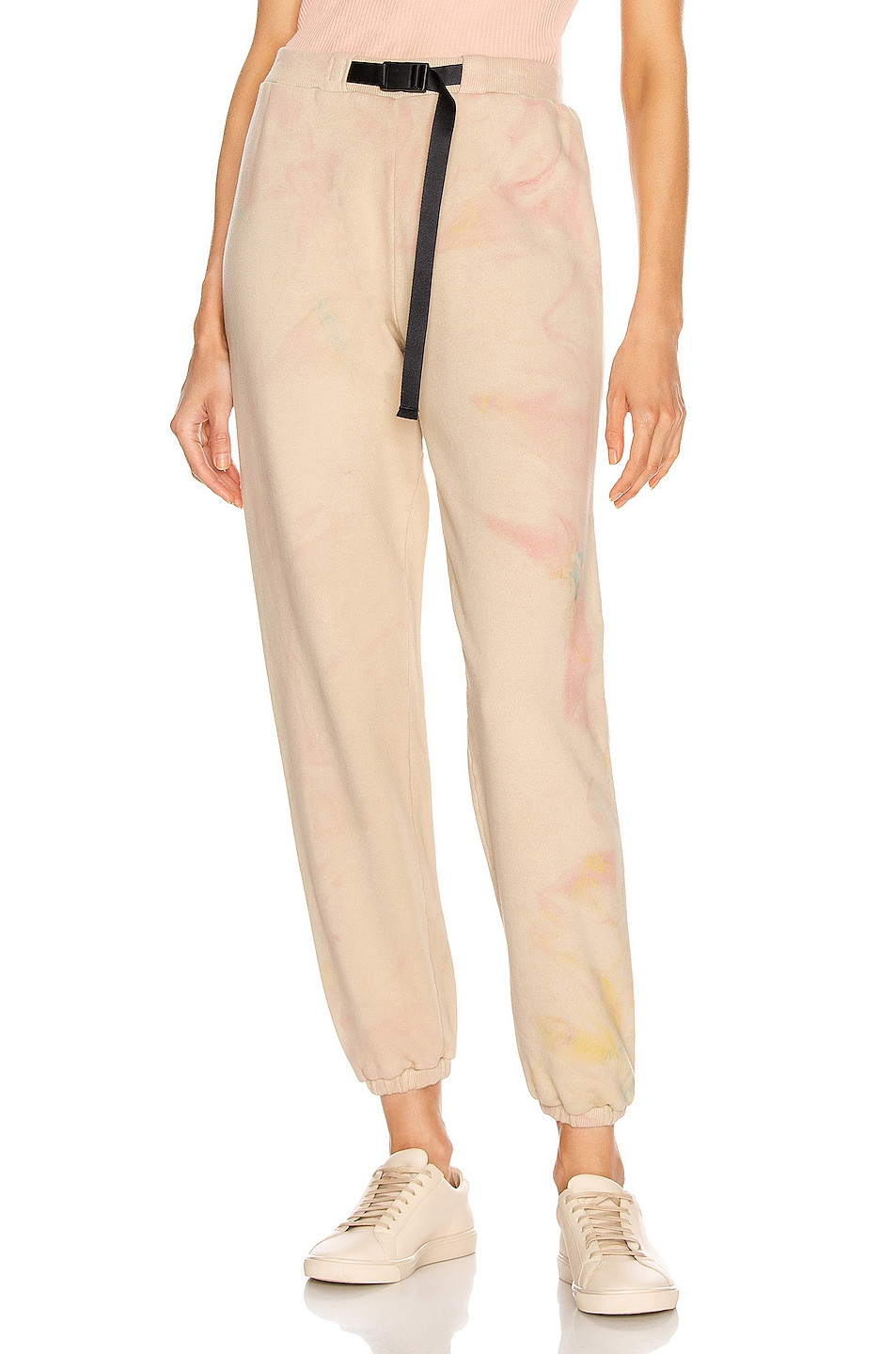 Image 1 of JOHN ELLIOTT Belted Sweatpant in Carnival Tan