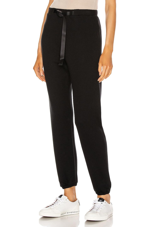 Image 1 of JOHN ELLIOTT Vintage Fleece Belted Sweatpant in Black