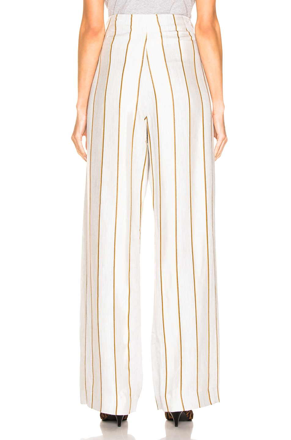 Image 3 of JOHN ELLIOTT Claire Wrap Pant in Grey & Ivory