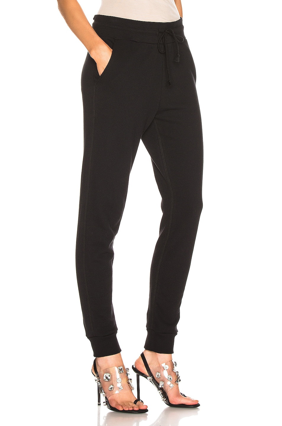 Image 2 of JOHN ELLIOTT Dakota Sweatpant in Heather Grey in Black
