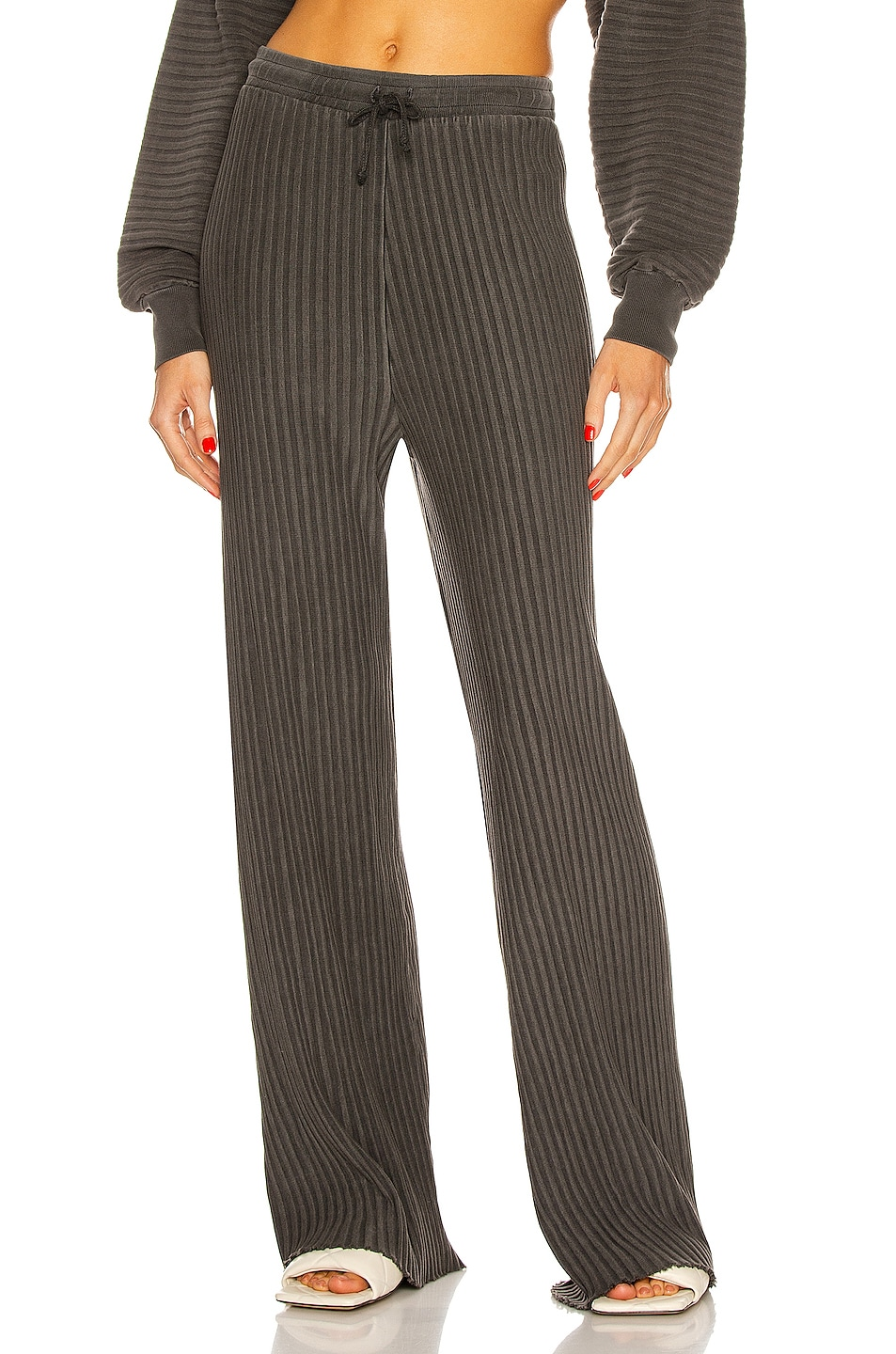 Image 1 of JOHN ELLIOTT Ribbed Terry Sweatpant in Charcoal