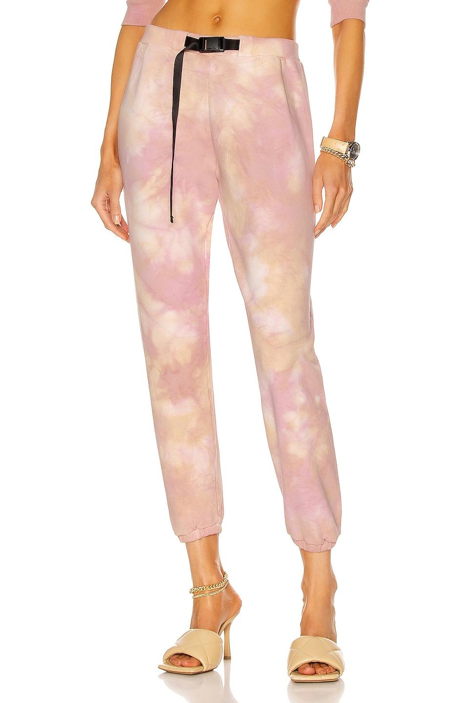 Image 1 of JOHN ELLIOTT Belted Sweatpant in Super Bloom