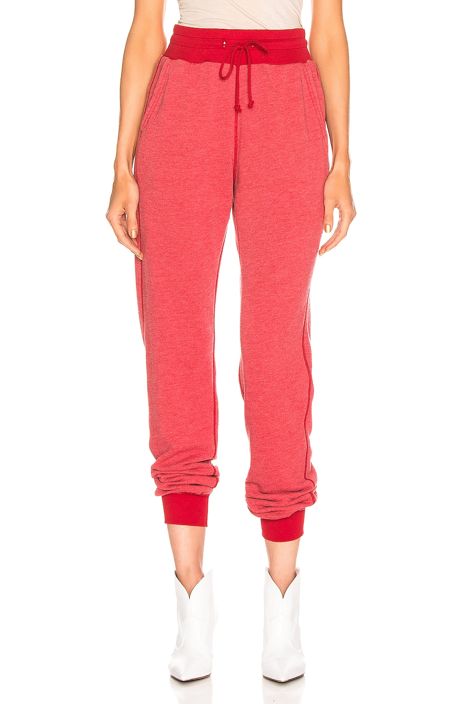 Image 1 of JOHN ELLIOTT Vintage Fleece Sweatpant in Cherry
