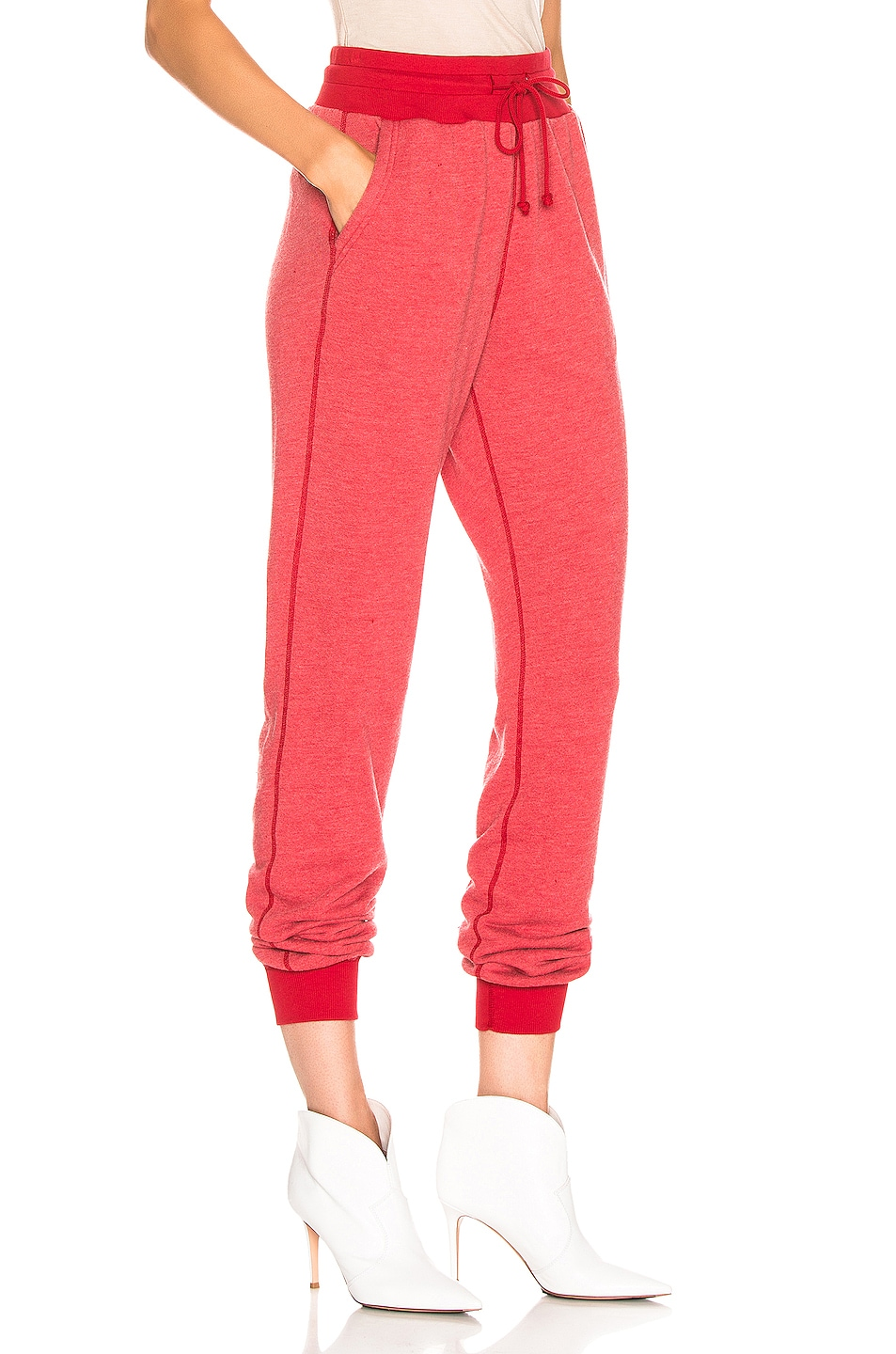 Image 2 of JOHN ELLIOTT Vintage Fleece Sweatpant in Cherry