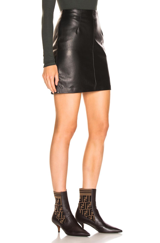Image 2 of JOHN ELLIOTT Elise Leather Skirt in Black