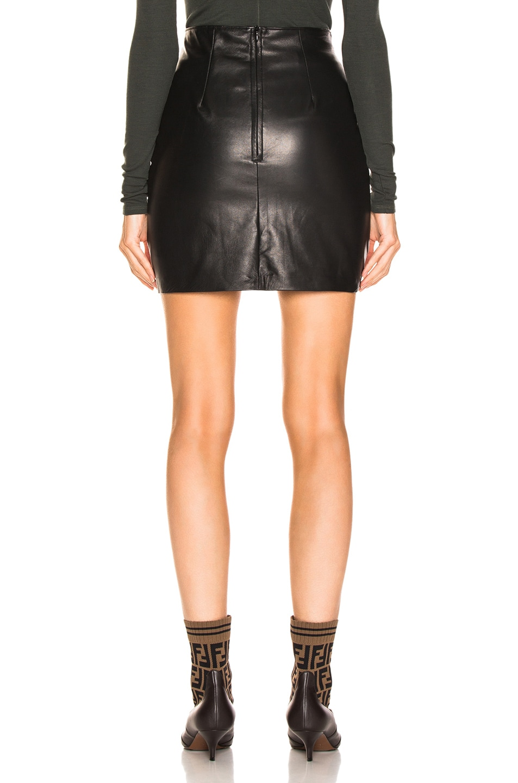 Image 3 of JOHN ELLIOTT Elise Leather Skirt in Black