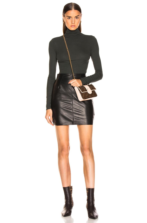 Image 4 of JOHN ELLIOTT Elise Leather Skirt in Black