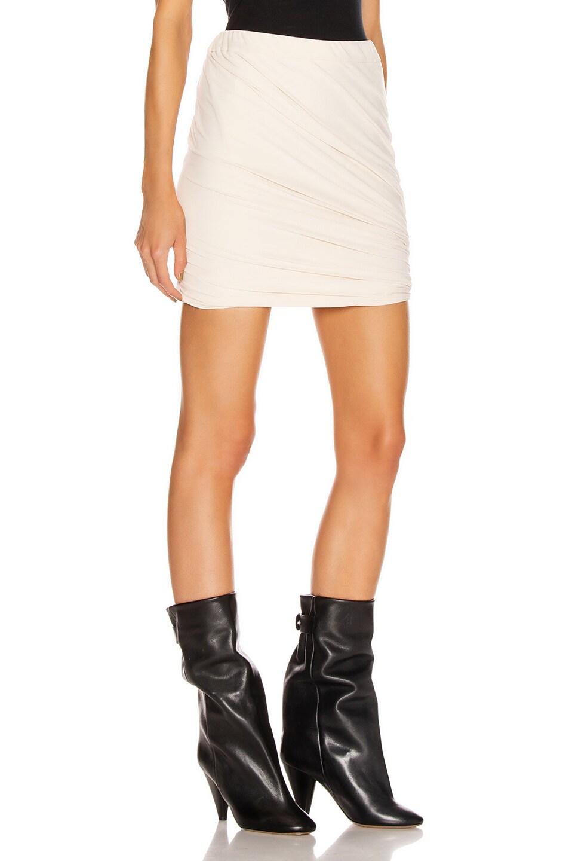 Image 2 of JOHN ELLIOTT Velvet Jersey Skirt in Basalt