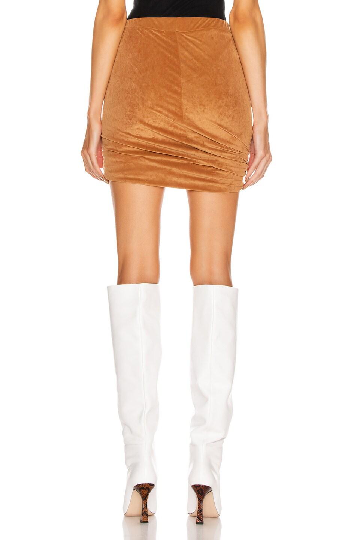 Image 3 of JOHN ELLIOTT Velvet Jersey Skirt in Terra
