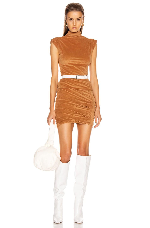 Image 4 of JOHN ELLIOTT Velvet Jersey Skirt in Terra
