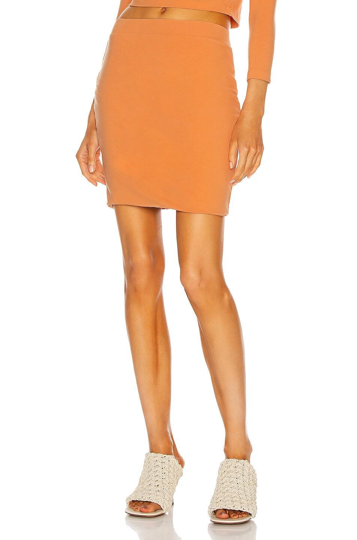 Image 1 of JOHN ELLIOTT Stretch Mini Skirt in Solar