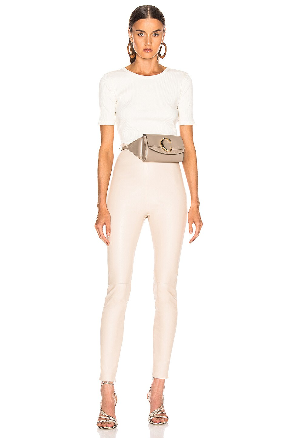 Image 4 of JOHN ELLIOTT Fawn Rib Cropped Tee in Ivory