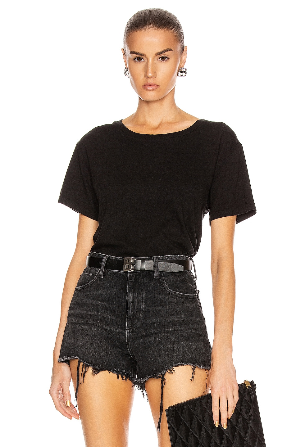 Image 1 of JOHN ELLIOTT Jersey Relaxed Tee in Black