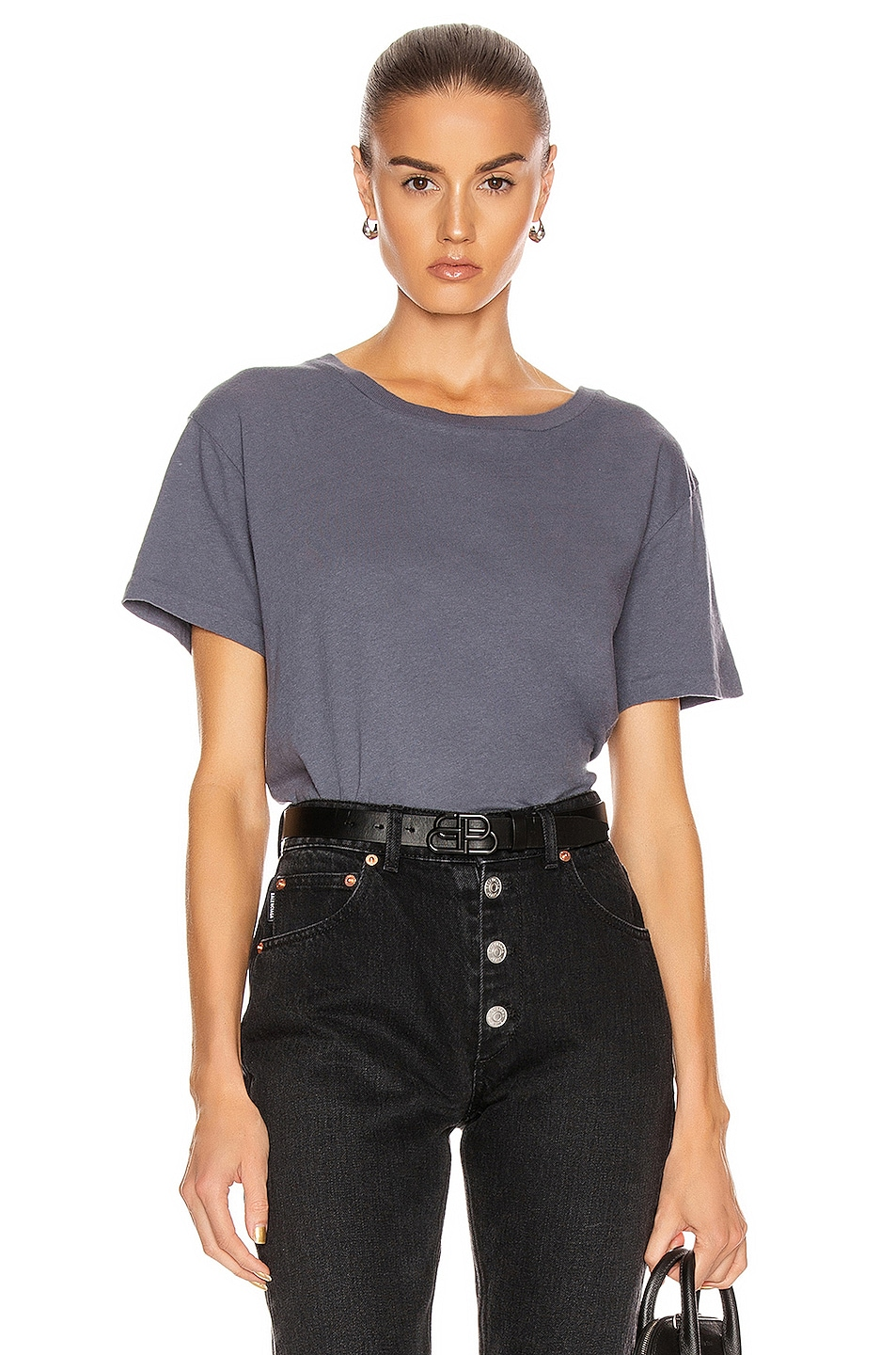 Image 1 of JOHN ELLIOTT Jersey Relaxed Tee in Dusty Navy