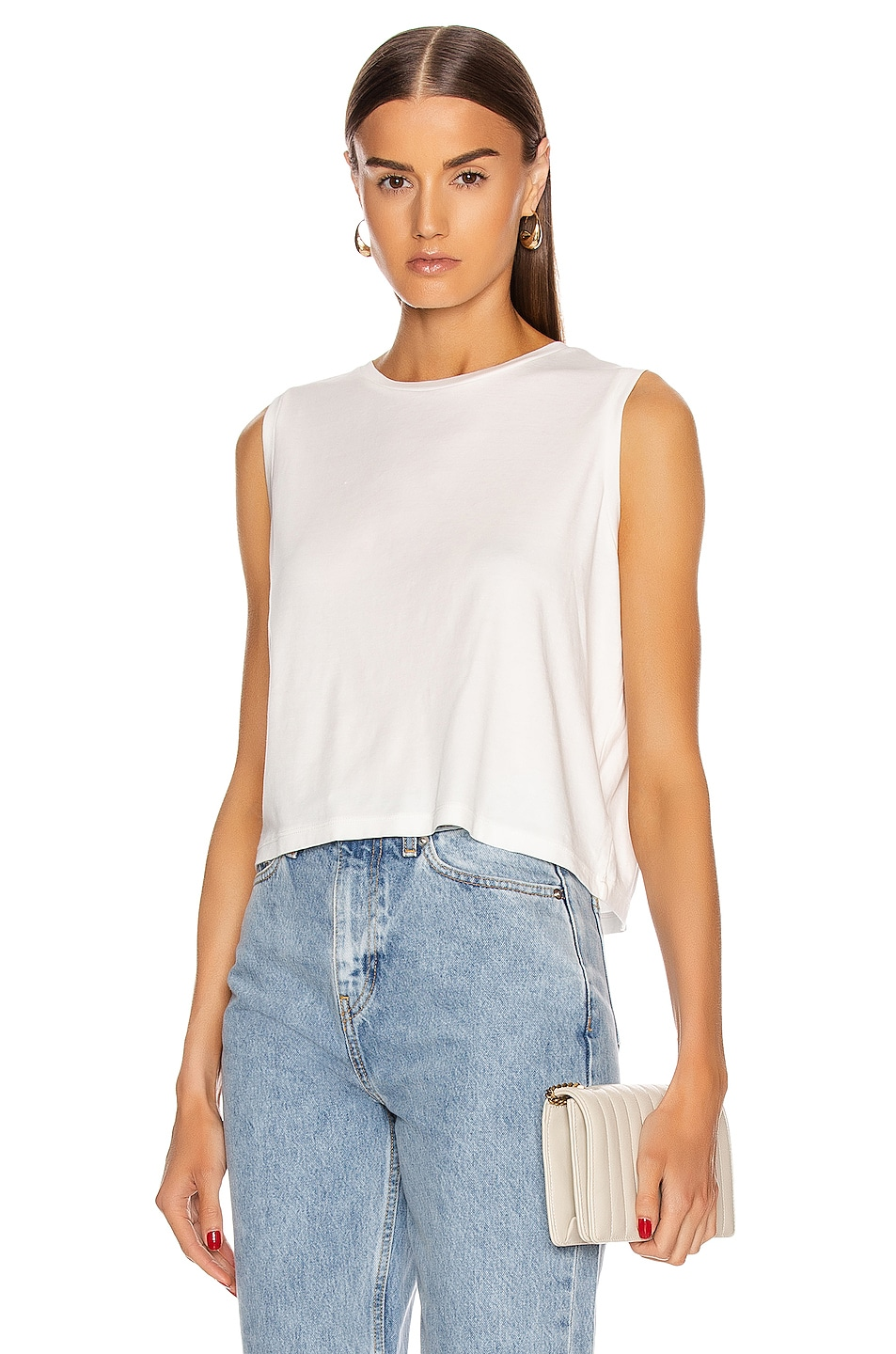 Image 1 of JOHN ELLIOTT High Twist Muscle Tank Top in White