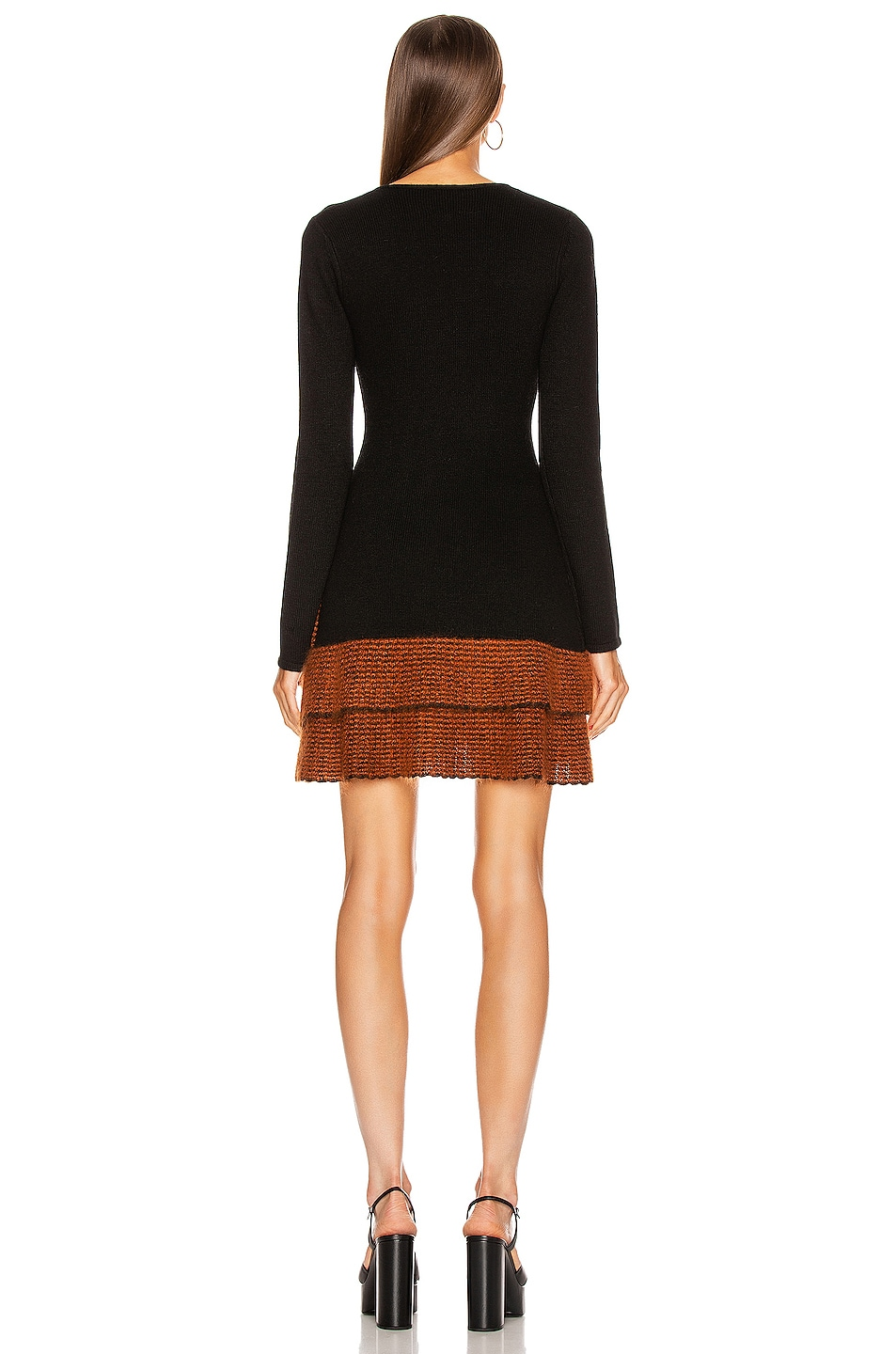 Image 4 of JoosTricot Long Sleeve Mini Dress in New Jet & Ochre