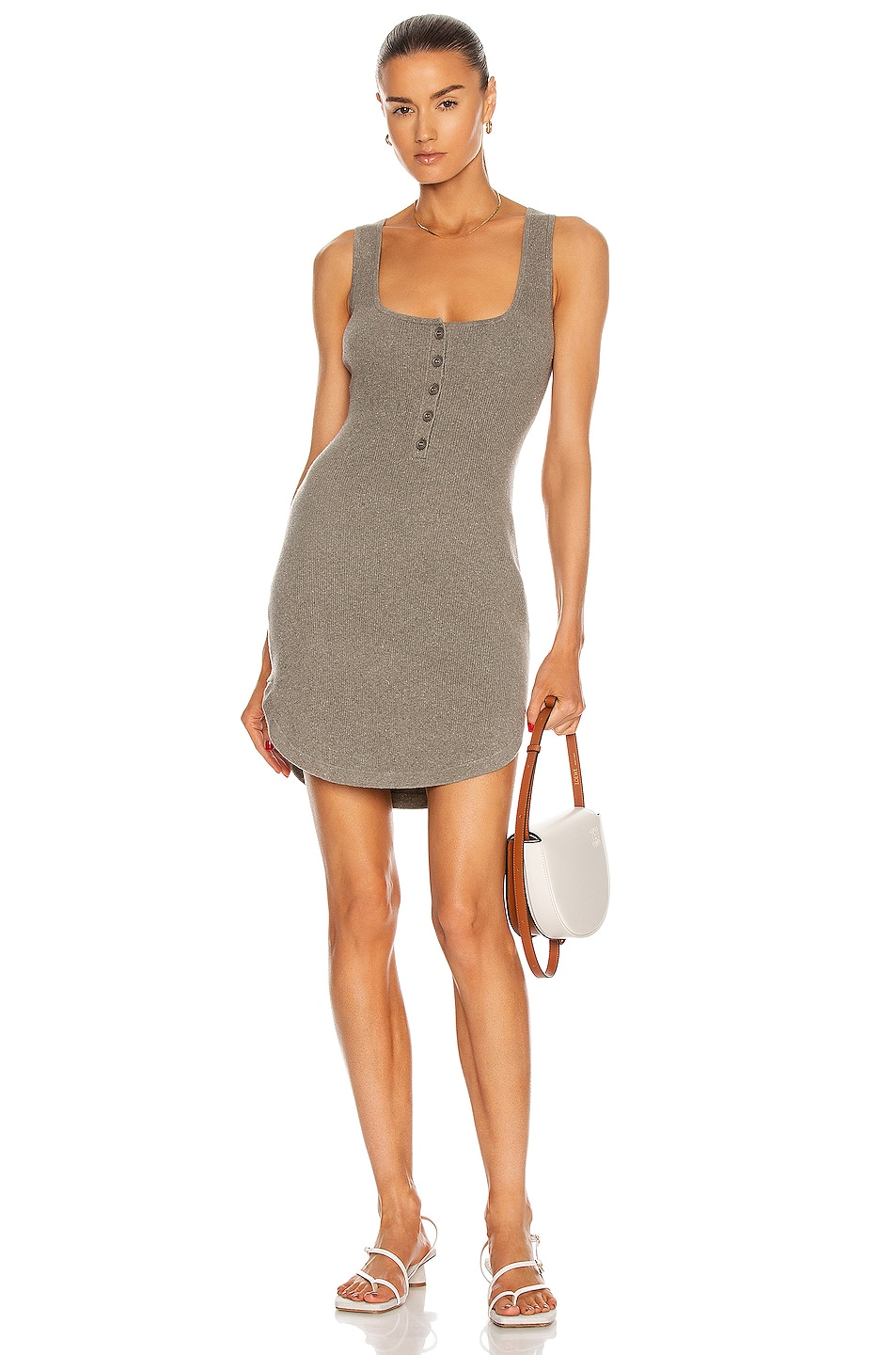 Image 1 of JoosTricot Mini Tank Dress in Forest Road