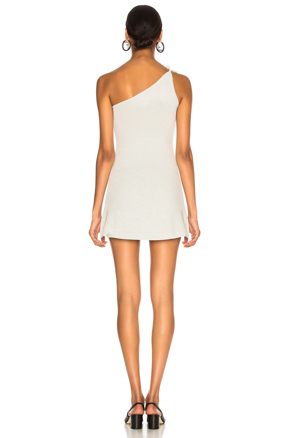 Image 4 of JoosTricot Asymmetric Dress in Silver White Lurex