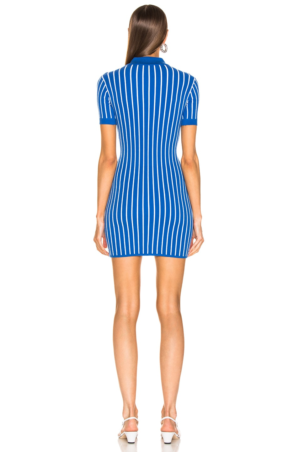 Image 3 of JoosTricot Polo Dress in Blue & White