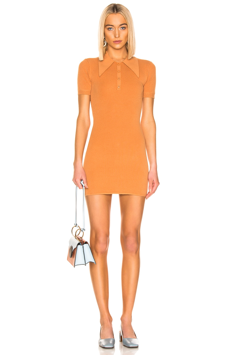 Image 1 of JoosTricot Polo Dress in Caramel Sauce