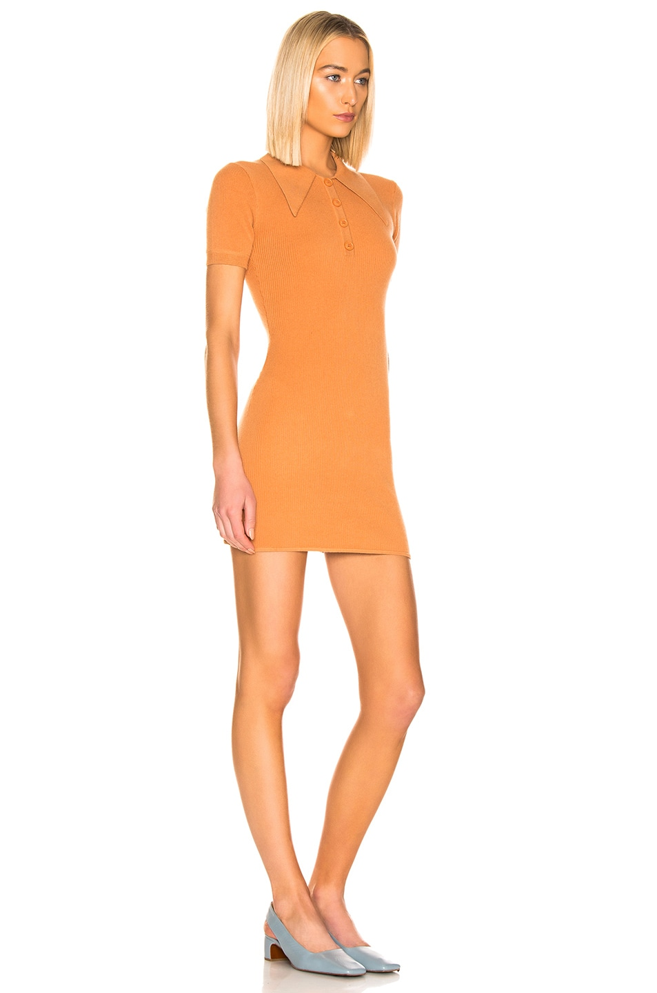 Image 2 of JoosTricot Polo Dress in Caramel Sauce