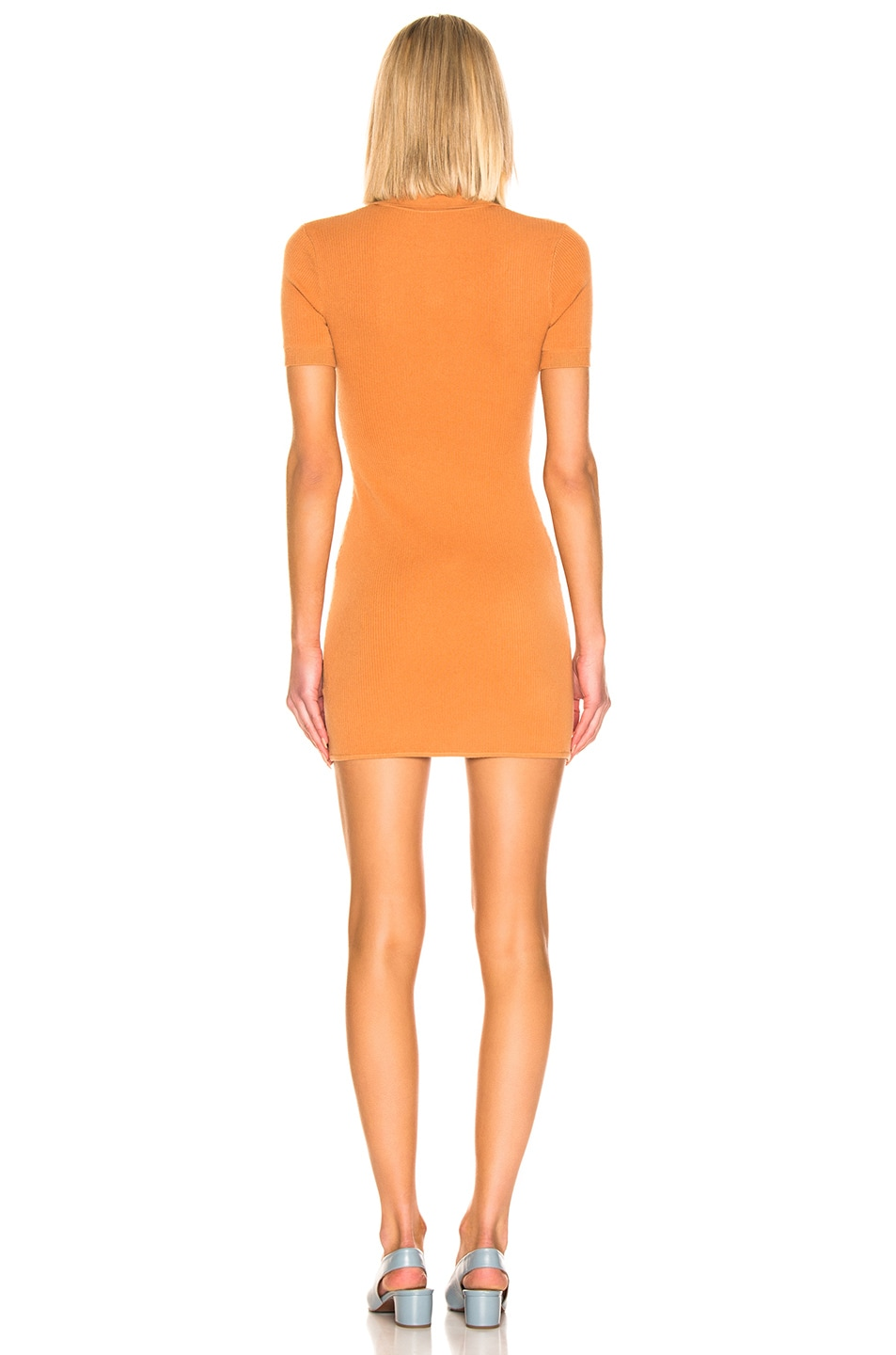 Image 3 of JoosTricot Polo Dress in Caramel Sauce