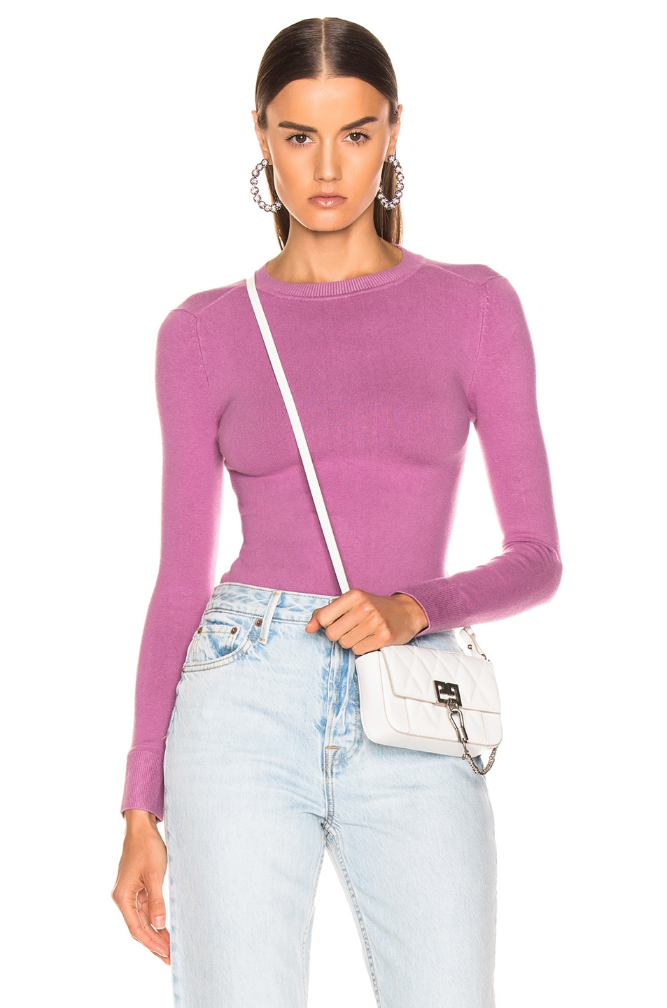 Image 1 of JoosTricot Long Sleeve Crew Neck in Orchid Dusk