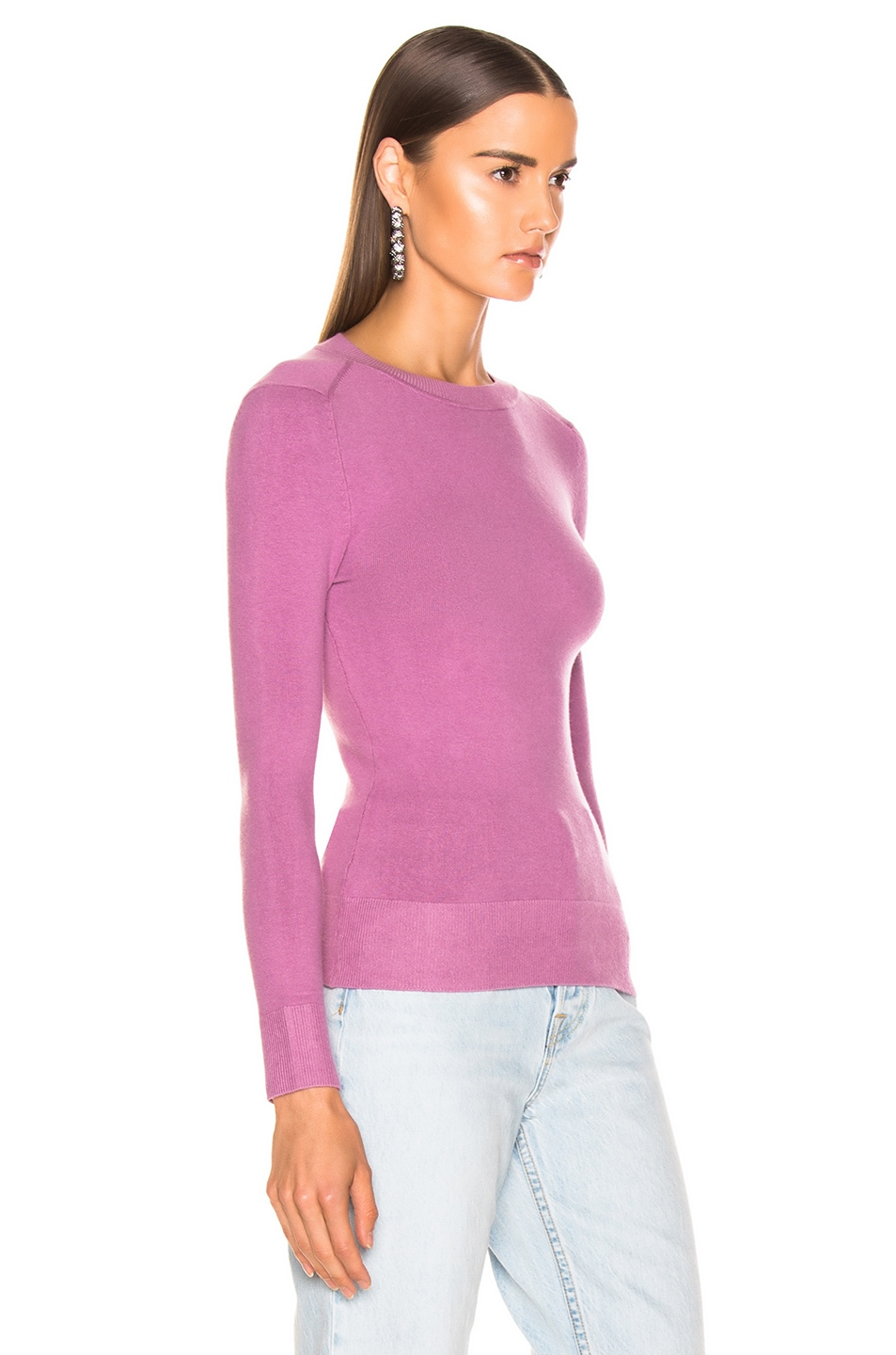 Image 2 of JoosTricot Long Sleeve Crew Neck in Orchid Dusk