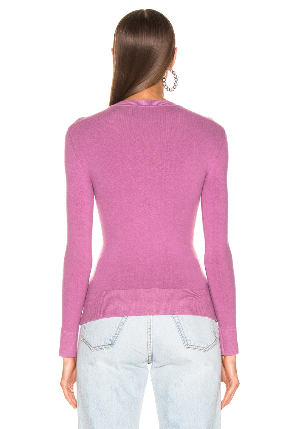 Image 3 of JoosTricot Long Sleeve Crew Neck in Orchid Dusk
