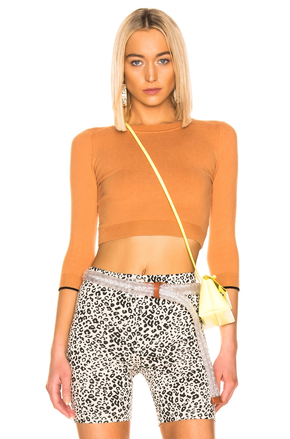 70%OFF JoosTricot Cropped Sweater Caramel Sauce & Coal