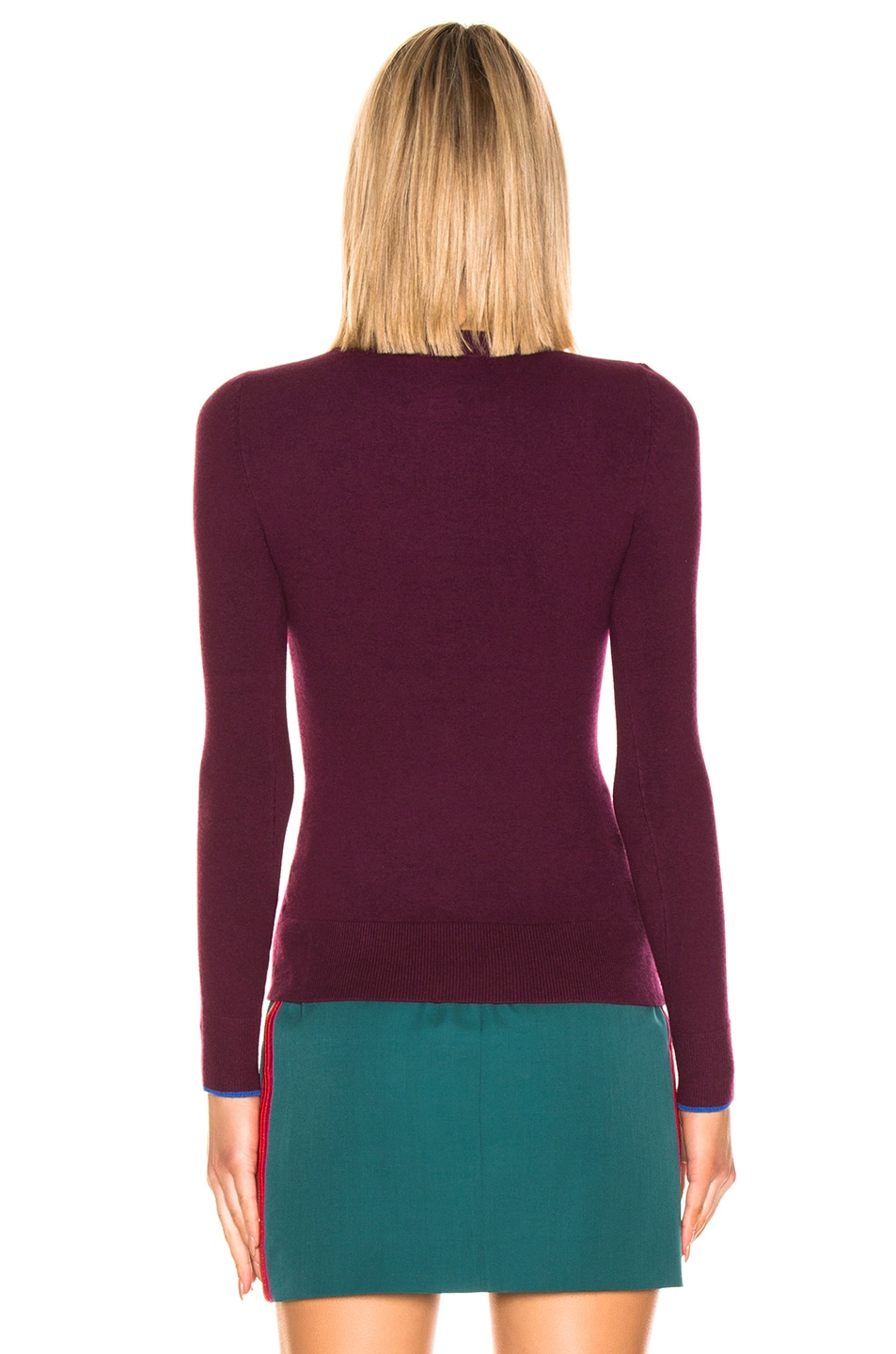 Image 3 of JoosTricot Crew Neck Sweater in Pinot & Cosmos