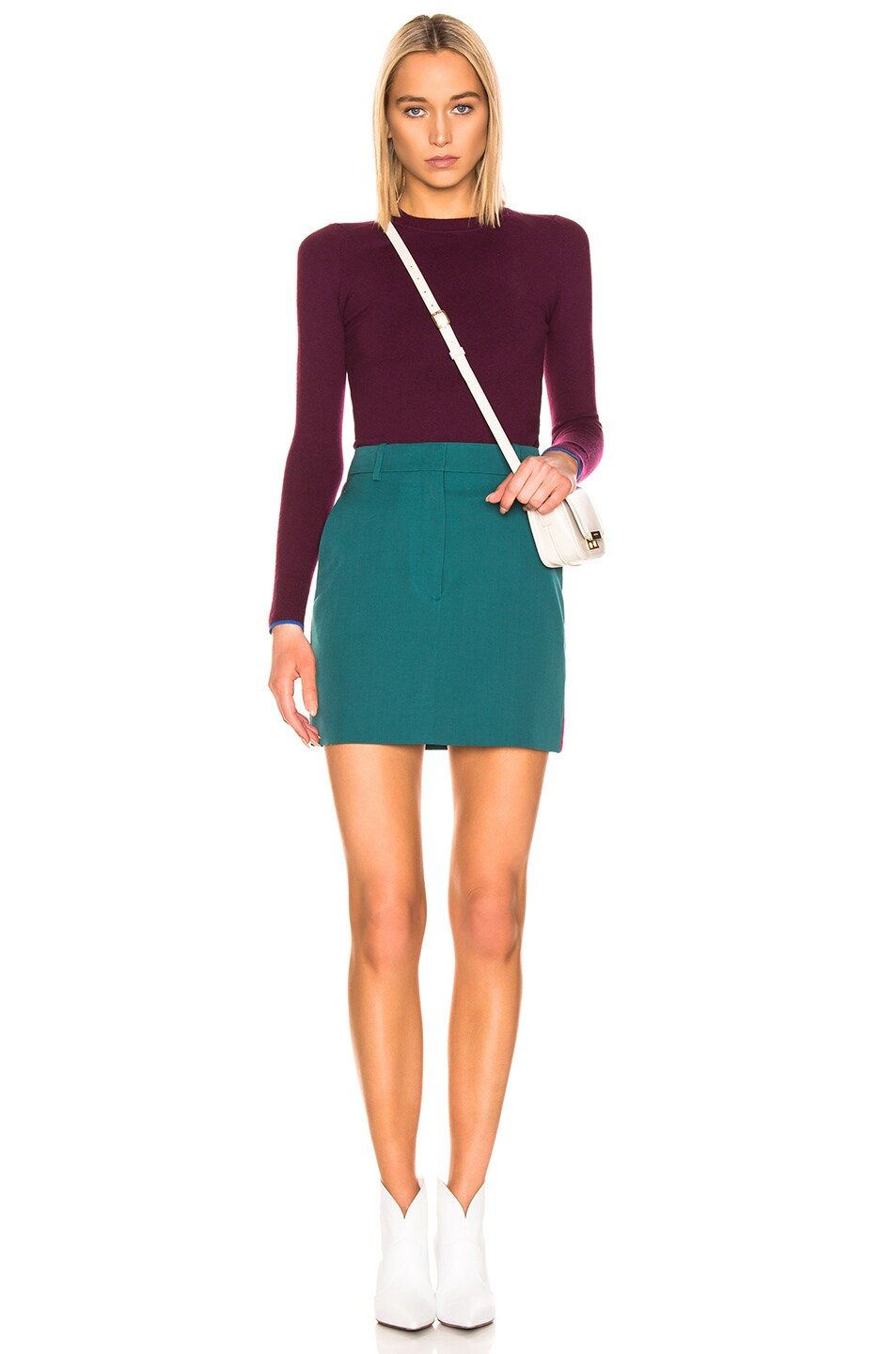 Image 4 of JoosTricot Crew Neck Sweater in Pinot & Cosmos