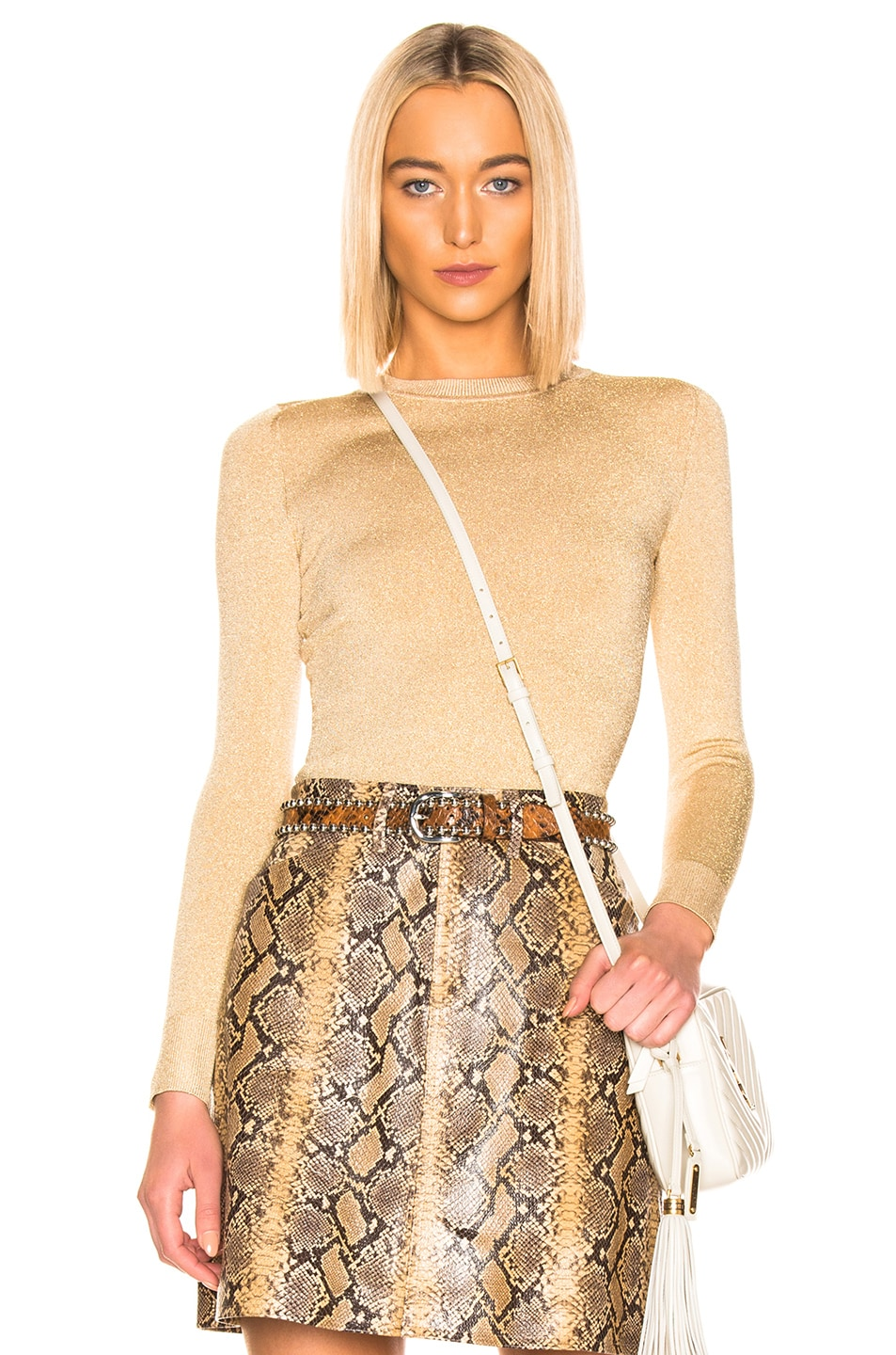 Image 1 of JoosTricot Crew Neck Sweater in Gold