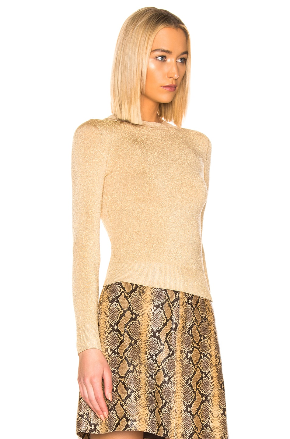 Image 2 of JoosTricot Crew Neck Sweater in Gold