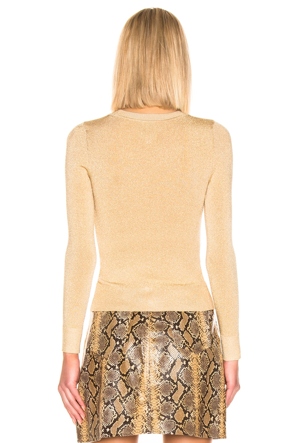 Image 3 of JoosTricot Crew Neck Sweater in Gold