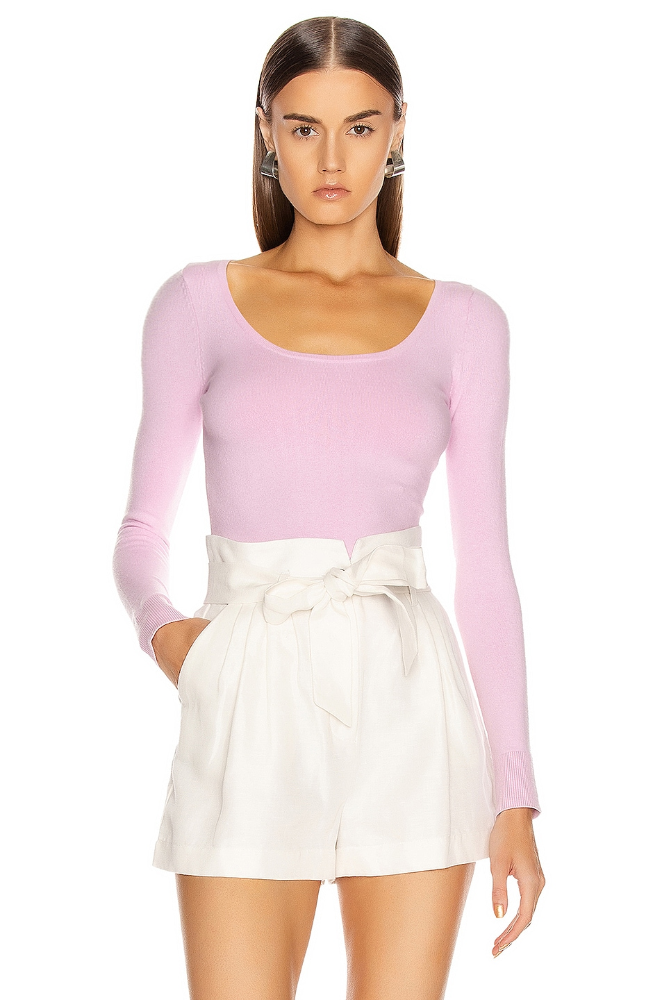 Image 1 of JoosTricot Scoop Neck Sweater in Wild Rose